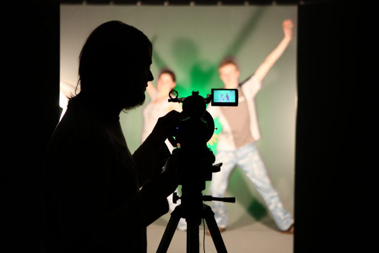 Silhouette of media student.